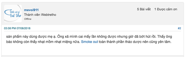smoke out dung co tot khong