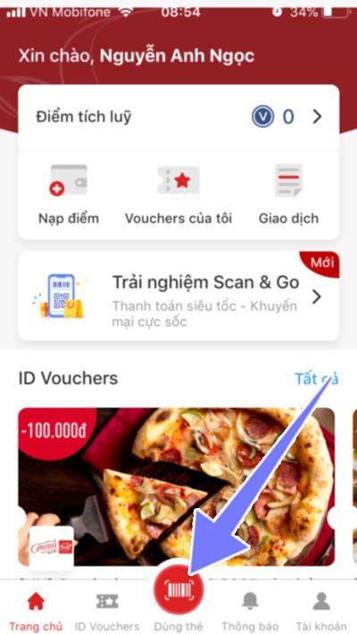 cách sử dụng ứng dụng ViniD mobile app để tích điểm