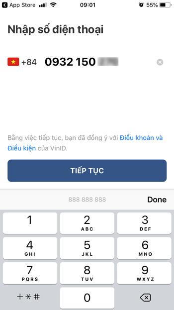 cách mở thẻ vinid trên ứng dụng điện thoại