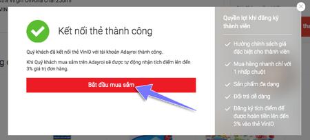cách tích điểm vinid khi mua sắm online tại adayroi.com