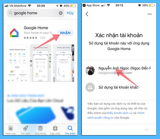 cách cài ứng dụng google home làm nhà thông minh