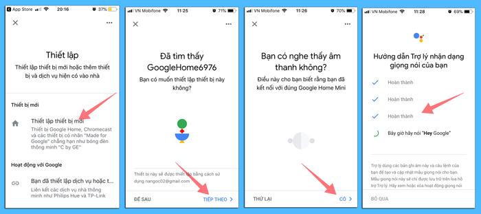 Cách thêm loa google home mini vào app google home