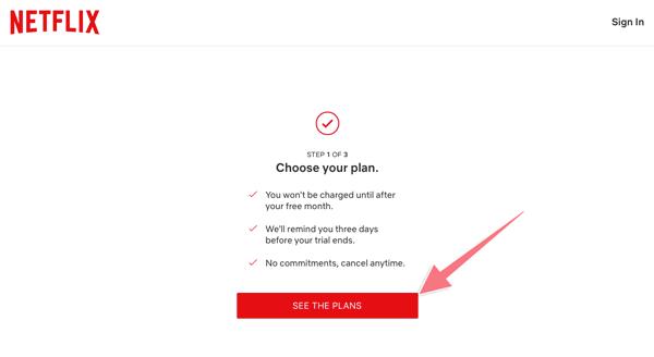 hướng dẫn đăng ký netfflix dùng 1 tháng free