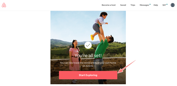 cài đặt tài khoản airbnb
