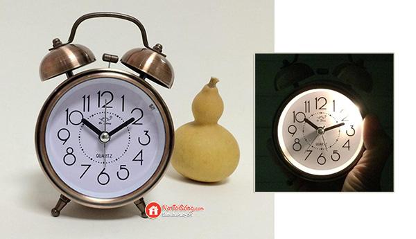 đồng hồ báo thức kiểu cổ điển 2 chuông