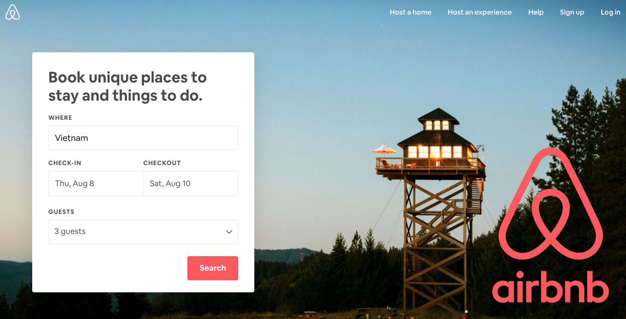 hướng dẫn cách thuê phòng trên website airbnb