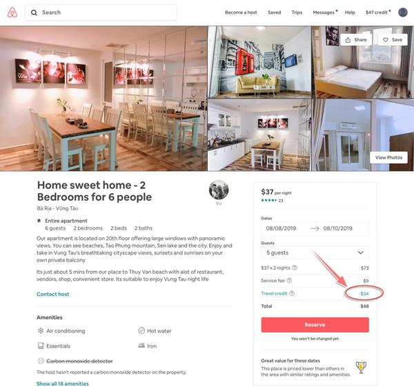 cách thuê phòng airbnb