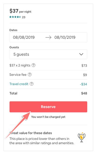 thanh toán khi thuê phòng trên airbnb