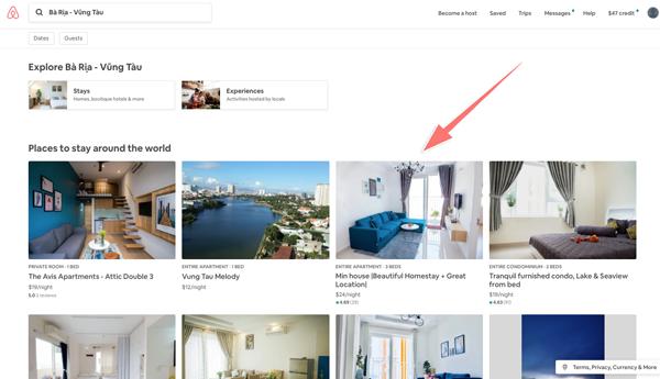 cách book phòng trên airbnb