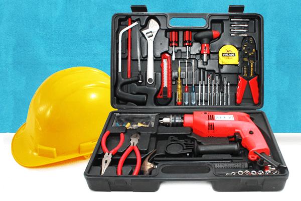 bộ dụng cụ sửa chữa đa năng có máy khoan