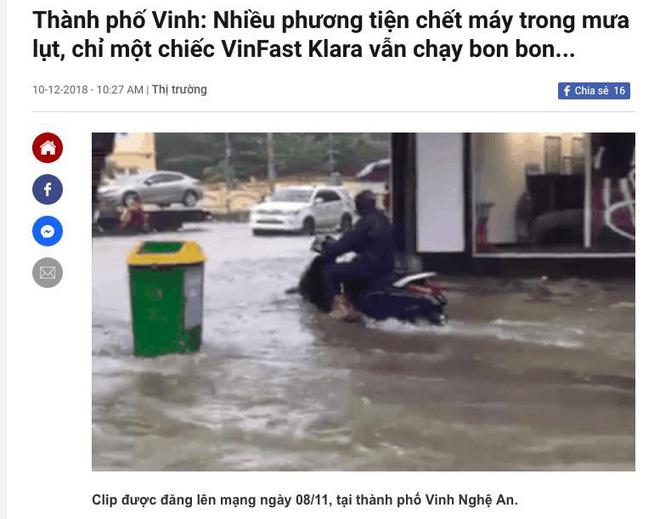 khả năng lội nước của xe máy điện vinfast