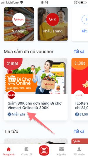 cách áp dụng mã giảm giá khi đi chợ online