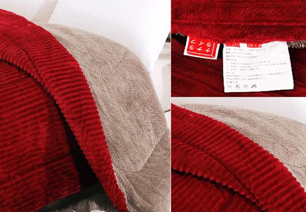 chăn lông cừu queen đỏ ruby Nhật Bản Nanara Life