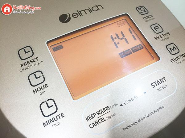bảng điều khiển nồi cơm điện tử elmich