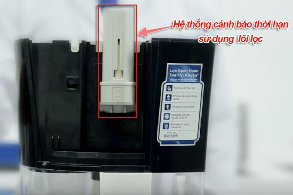hệ thống cảnh báo lõi lọc của máy pureit unilever