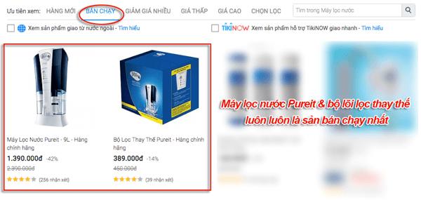 máy lọc nước pureit unilever bán chạy nhất