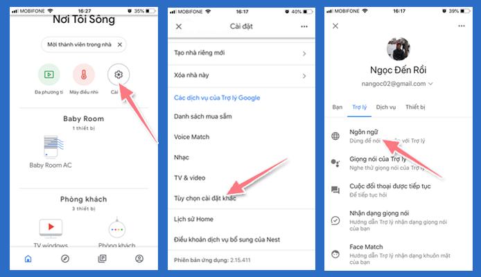 cài ngôn ngữ tiếng Việt cho Google home