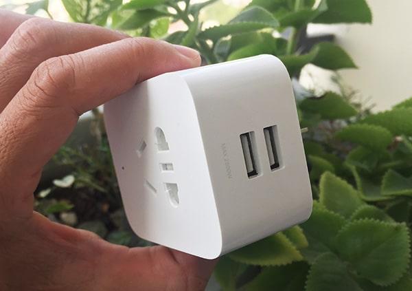 ổ cắm điện thông minh 2 cổng usb xiaomi co wifi