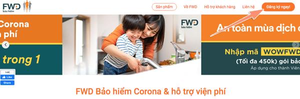 cách mua bảo hiểm fwd corona trên tiki