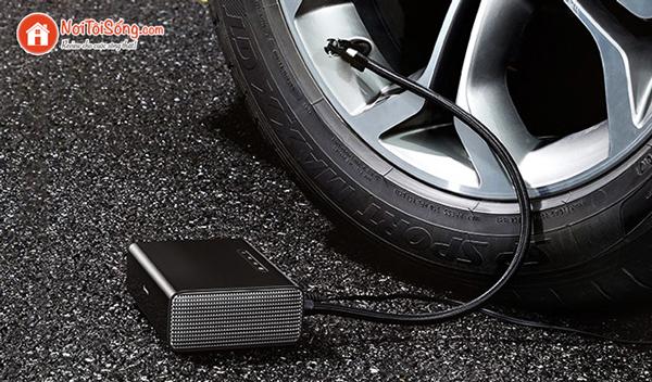 máy bơm lốp ô tô mini thông minh Baseus