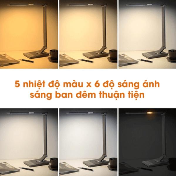 cấp độ ánh sáng của đèn để bàn TaoTronics TT-DL16