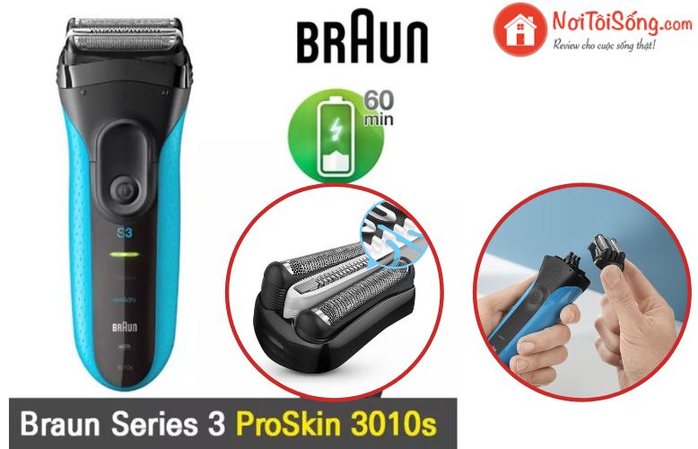 Máy cạo râu cao cấp Braun 3 ProSkin 3010S