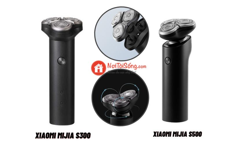 so sánh máy cạo râu Xiaomi Mijia S300 và xiaomi Mijia S500