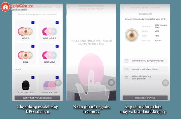 cách kích hoạt máy đắp mặt nạ foreo ufo trên app