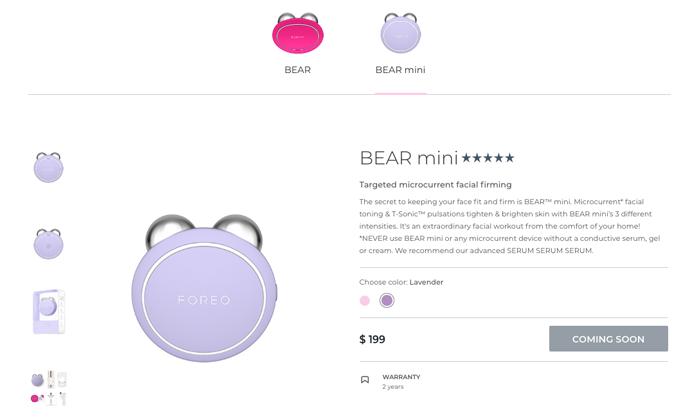 máy bear foreo bản full và bear mini