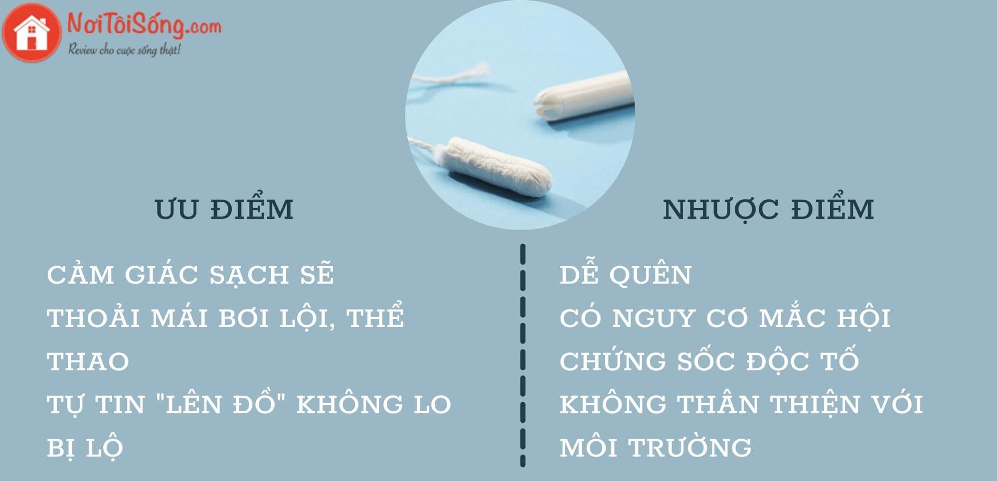 Đánh giá ưu, nhược điểm của tampon