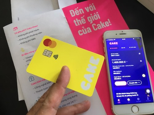 thẻ cake ngân hàng số