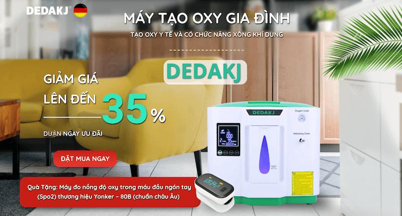mua máy tạo oxy Dedakj De-2AW 2-9 lít chính hãng