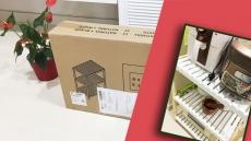 Mở hộp – Kệ để lò vi sóng 3 tầng